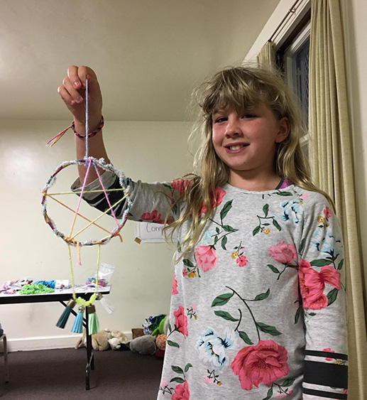 Josie's Place participant with dreamcatcher