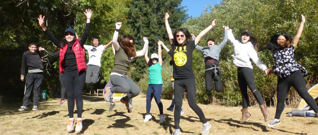 Photo of Peace Club members enjoying an outdoor activity